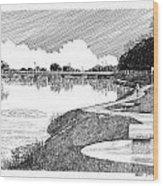 Riverwalk On The Pecos Wood Print by Jack Pumphrey