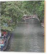 Riverwalk San Antonio Wood Print