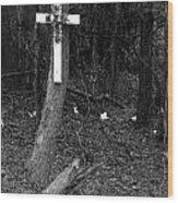 Road Death Cross- La Hwy 15- Louisiana Wood Print