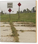 Road Ends Sign Wood Print by Will & Deni McIntyre