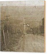 Road Not Traveled  Wood Print