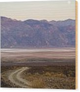 Road Through Death Valley Wood Print