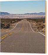 Road To Kelso Dunes Wood Print