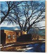 Road To Mescalero Wood Print