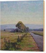 Road To Richmond Wood Print