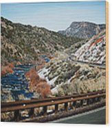 Road To Taos Village 1 Wood Print by Lisa  Spencer