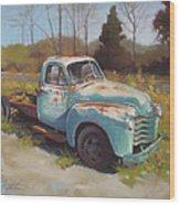 Roadside Relic Wood Print