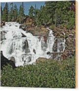 Roaring Falls Glen Alpine Falls Wood Print