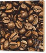 Roasted Coffee Beans Wood Print