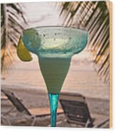Roatans West Bay, Tropical Drink Wood Print