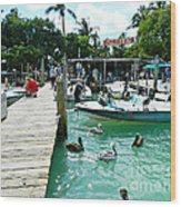 Robbies Of Islamorada Wood Print