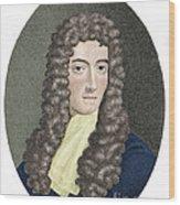 Robert Boyle, British Chemist Wood Print