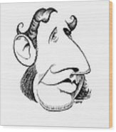 Robert Fitzroy, Caricature Wood Print by Gary Brown