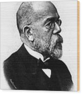 Robert Koch, German Microbiologist Wood Print