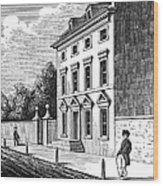 Robert Morris House Wood Print