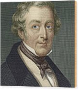 Robert Peel, British Prime Minister Wood Print by Sheila Terry