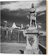 robert the bruce statue at stirling castle Scotland UK Wood Print