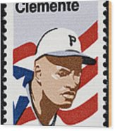 Roberto Clemente Wood Print by Granger