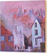 Robin Hoods Bay Dock Wood Print by Neil McBride