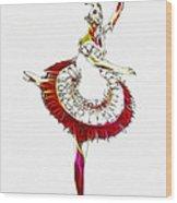 Robot Ballerina Wood Print
