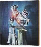 Robot Intelligence Wood Print