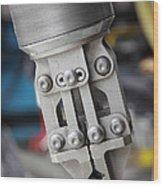 Robotic Arm On Deep Sea Submarine Wood Print