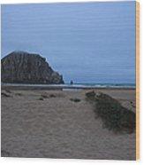 Rock And Dunes Wood Print