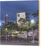Rock And Roll Plaza Wood Print