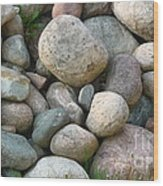 Rock Collection Wood Print