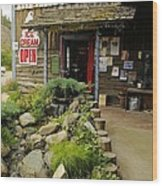 Rock Creeks Trading Post Wood Print