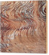 Rock Formation At Petra Jordan Wood Print