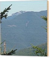 Rock Formation On The Ridge Wood Print