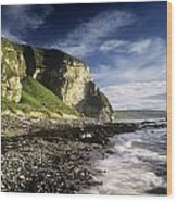 Rock Formations At The Coast Wood Print