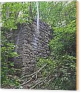 Rock Glen Falls 3 Wood Print