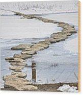 Rock Lake Crossing Wood Print