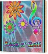 Rock Music Poster Wood Print