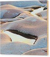 Rock Pool Landscape Wood Print
