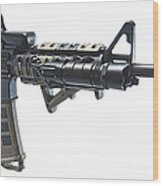 Rock River Arms Ar-15 Rifle Equipped Wood Print