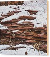 Rock Sandwich With Snow Icing Wood Print