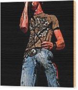 Rock Singer Wood Print