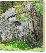 Rock Spirits Keeping Secrets Wood Print