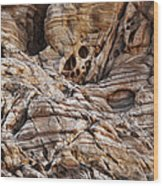 Rock Texture Wood Print by Kelley King