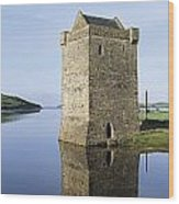 Rockfleet Castle On Clew Bay, County Wood Print