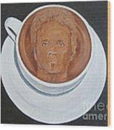 Rockin'coffee Wood Print