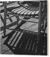 Rocking Chair Lit By The Afternoon Sun Wood Print