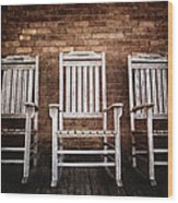 Rocking Chairs Wood Print