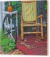 Rocking In Autumn Wood Print