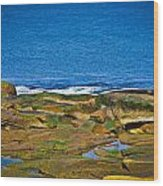 Rockport Shoreline Wood Print