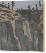 rocks along the Sanpoil river Wood Print