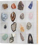 Rocks And Minerals Wood Print
